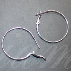 md1641 apie 33 x 29 mm, sidabrinė spalva, auskaro detalė, 4 vnt.