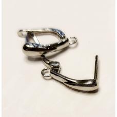 md1710 apie 21 x 13 mm, metalo spalva, auskaro detalė, 2 vnt.