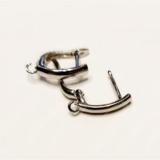 md1711 apie 21 x 13 mm, metalo spalva, auskaro detalė, 2 vnt.
