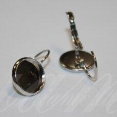 md1716.3 apie 23 x 12 mm, metalo spalva, auskaro detalė, tinka 10 mm disko formos kabošonui, 2 vnt.