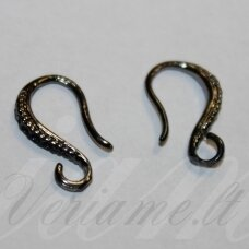 md1823.5 apie 13 x 8 mm, juoda spalva, auskaro detalė, 2 vnt.