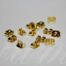 md1871 apie 2.5 x 5 mm, auksinė spalva, auskaro fiksatorius, 44 vnt.
