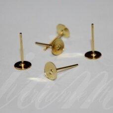 md1874 apie 12.5 x 6 mm, auksinė spalva, auskaro detalė, 30 vnt.