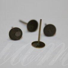 md1916 apie 13 x 6 mm, žalvario spalva, auskaro detalė, 30 vnt.