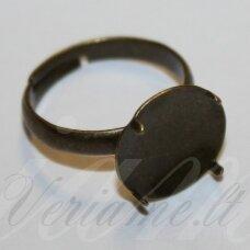 md2003 apie 19 x 13 mm, žalvario spalva, žiedo pagrindas, tinka 12 mm disko formos kabošonui, 2 vnt.