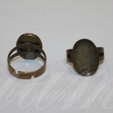 md2009 apie 19 x 14 mm, žalvario spalva, žiedo pagrindas, tinka 18 x 13 mm ovalo formos kabošonui, 2 vnt.