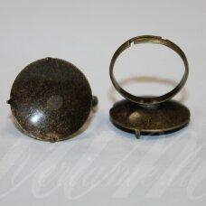 md2018 apie 20 mm, žiedo pagrindas, žalvario spalva, tinka 20 mm disko formos kabošonui, 2 vnt.