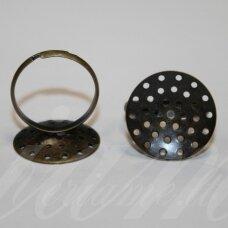md2022 apie 20 mm, žiedo pagrindas, žalvario spalva, 2 vnt.