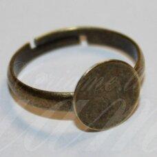 md2035 apie 10 mm, žalvario spalva, žiedo pagrindas, 3 vnt.