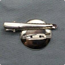 md2051.4 apie 35 x 18 x 8 mm, metalo spalva, segės, plaukų segtukas, 4 vnt.