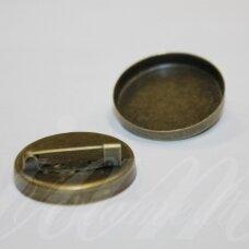 md2197 apie 26 mm, žalvario spalva, rėmelis, tinka 25 mm disko formos kabošonui, 2 vnt.