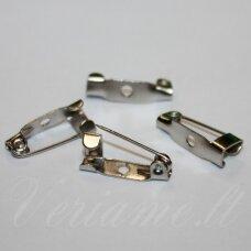 md2250 apie 15 x 6 mm, metalo spalva, užsegimas sagei, 10 vnt.