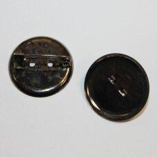md2262.2 apie 24 mm, juoda spalva, sagės pagrindas, 8 vnt.