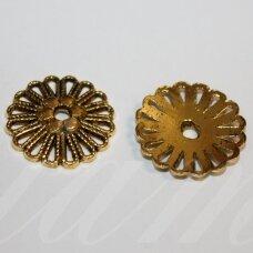 md2803.7 apie 23 x 4 mm, sendinta auksinė spalva, kepurėlė, 4 vnt.