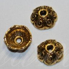 MD2799 apie 3.5 x 9 mm, sendinto aukso spalva, kepurėlė, apie 14 vnt.
