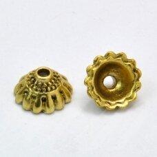MD2800.5 apie 10 x 5.5 mm, sendinto aukso spalva, kepurėlė, 6 vnt.
