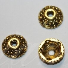 md2804.5 apie 10 x 3.5 mm, sendinta auksinė spalva, kepurėlė, 16 vnt.