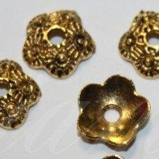 md2805.5 apie 11 x 3 mm, sendinta auksinė spalva, kepurėlė, 18 vnt.
