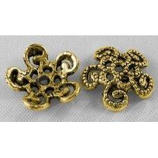 MD2808 apie 12 x 3 mm, sendinto aukso spalva, kepurėlė, 10 vnt.