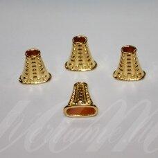 MD2811 apie 18 x 17 x 8 mm, šviesi, aukso spalva, kepurėlė, 4 vnt.
