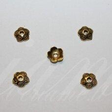 MD2812 apie 9 x 2.5 mm, sendinto aukso spalva, kepurėlė, apie 24 vnt.