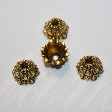 md2818.7 apie 11 x 6 mm, sendinta auksinė spalva, kepurėlė, 10 vnt.