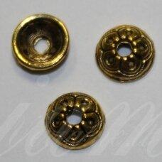 md2820.5 apie 2 x 6.5 mm, sendinta auksinė spalva, kepurėlė, apie 26 vnt.