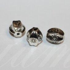 md3041 apie 11 x 10 mm, metalo spalva, intarpas, 4 vnt.