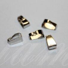 md3144.5 apie 7 x 4 x 3 mm, metalo spalva, pakabukas, 32 vnt.