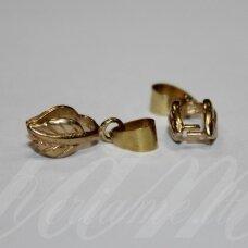 md3184 apie 21 x 8 x 6 mm, auksinė spalva, pakabuko detalė, 3 vnt.