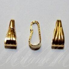 md3214 apie 11 x 5 x 5 mm, auksinė spalva, pakabuko detalė, 22 vnt.