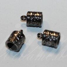 md3350.3 apie 12.5 x 8.5 mm, skylė 6 mm, juoda spalva, užbaigimo detalė, 3 vnt.