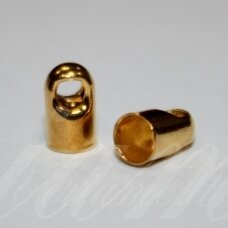 md3352 apie 7 x 4 mm, auksinė spalva, užbaigimo detalė, 28 vnt.