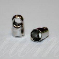 md3355 apie 7 x 4 mm, metalo spalva, užbaigimo detalė, 28 vnt.