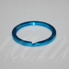 md3460.5 apie 30 x 2.5 mm, žydra spalva, raktų pakabukas, 3 vnt.