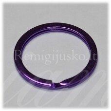 md3461.5 apie 30 x 2.5 mm, violetinė spalva, raktų pakabukas, 3 vnt.
