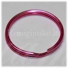 md3463.5 apie 28 x 2.5 mm, tamsi, rožinė spalva, raktų pakabukas, 3 vnt.