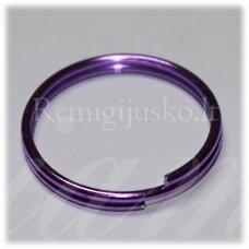 md3464.5 apie 27 x 2.5 mm, violetinė spalva, raktų pakabukas, 3 vnt.