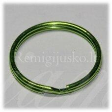 md3465.5 apie 27 x 3 mm, salotinė spalva, raktų pakabukas, 3 vnt.