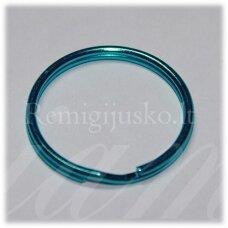 md3469.5 apie 27 x 3 mm, žydra spalva, raktų pakabukas, 3 vnt.