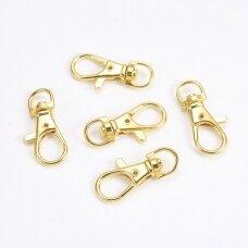 md3472.8 apie 35 x 16.5 x 6 mm, auksinė spalva, raktų pakabukas, 2 vnt.