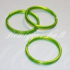 md3473.5 apie 25 x 3 mm, salotinė spalva, raktų pakabukas, 3 vnt.