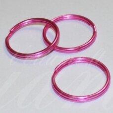 md3475.5 apie 25 x 2.5 mm, rožinė spalva, raktų pakabukas, 3 vnt.