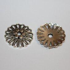 md3012 apie 23 x 4 mm, metalo spalva, kepurėlė, 4 vnt.