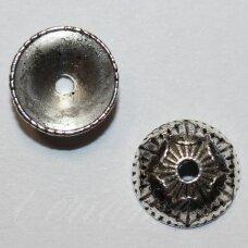 MD3799.2 apie 11 x 4 mm, metalo spalva, kepurėlė, 10 vnt.
