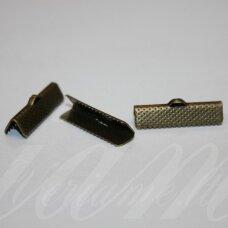 MD3907 apie 13 x 6 mm, žalvario spalva, juostelių užspaudėjas, 32 vnt.