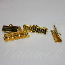 MD3909.7 apie 10 mm, šviesi aukso spalva, juostelių užspaudėjas, apie 30 vnt.