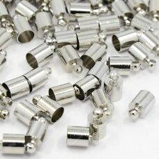 supermd3933.5 apie 10 x 6 mm, metalo spalva, skylė 5.5 mm, užbaigimo detalė, 8 vnt.