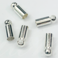 supermd3942 apie 9 x 4 mm, skylė 3.5 mm, sidabrinė spalva, užbaigimo detalė, apie 1000 vnt.