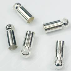 md3941.6 apie 7 x 2.5 mm, skylė 2 mm, sidabrinė spalva, užbaigimo detalė, 22 vnt.